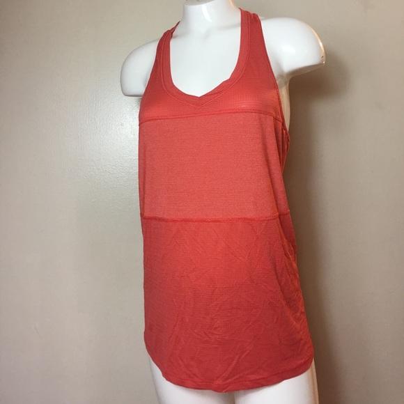 lululemon athletica Tops - Lululemon Athletica Tank Top Women's Orange V neck